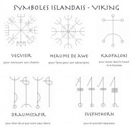 Bijoux avec des symboles viking gravés