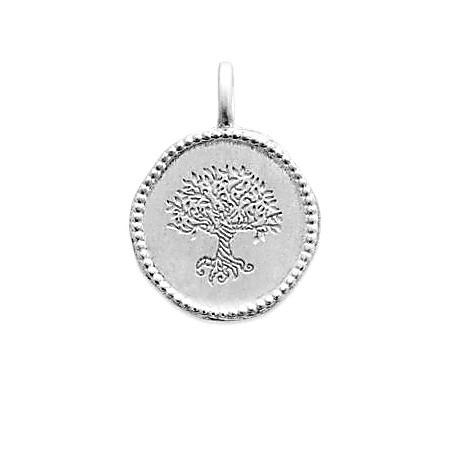 Pendentif médaille Arbre Monde Yggdrasil en argent massif
