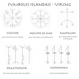 Symboles viking scandinaves islandais