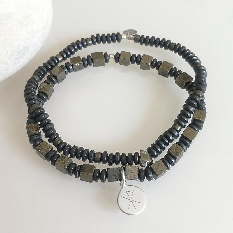 bracelet argent homme viking