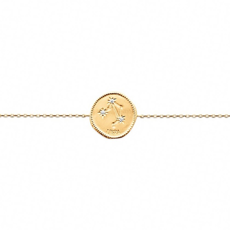 Bracelet constellation Balance plaque or zirconium