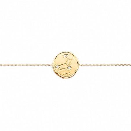 Bracelet constellation Vierge plaqué or zirconium