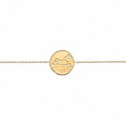 Bracelet constellation Lion plaqué or zirconium