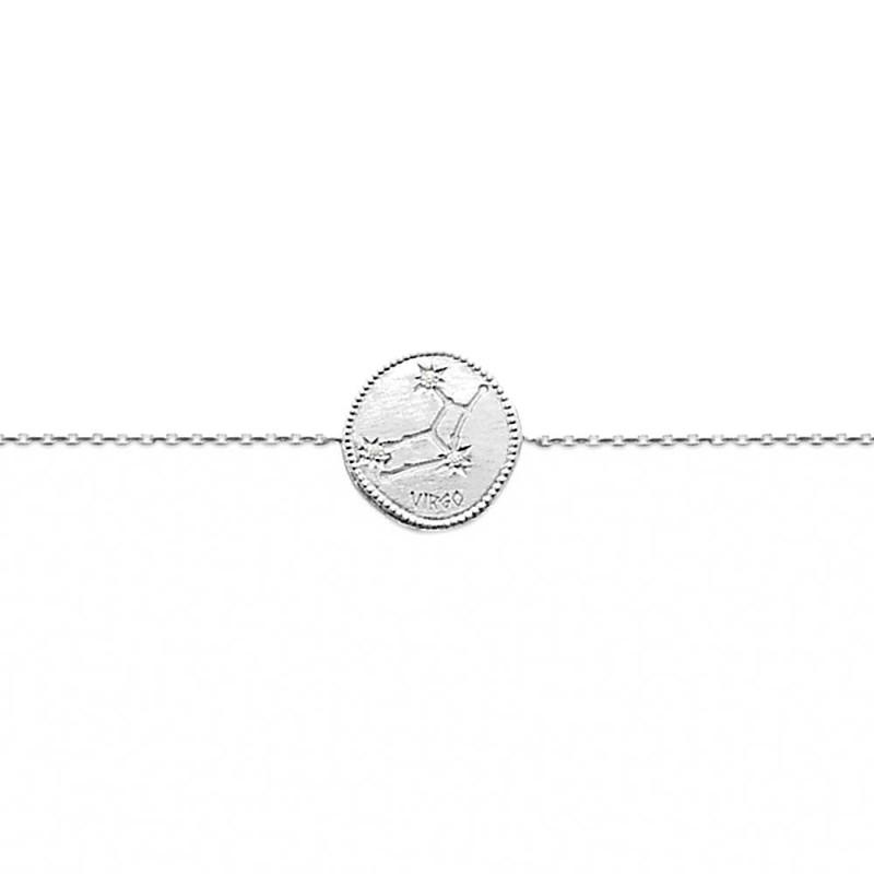 Bracelet constellation Vierge argent zirconium