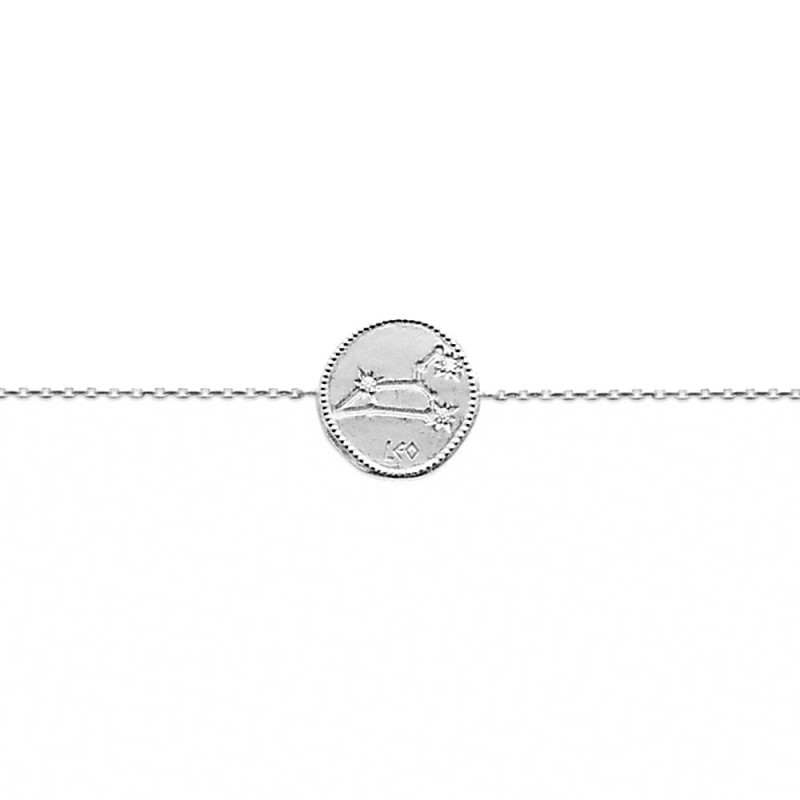 Bracelet constellation de Lion argent zirconium