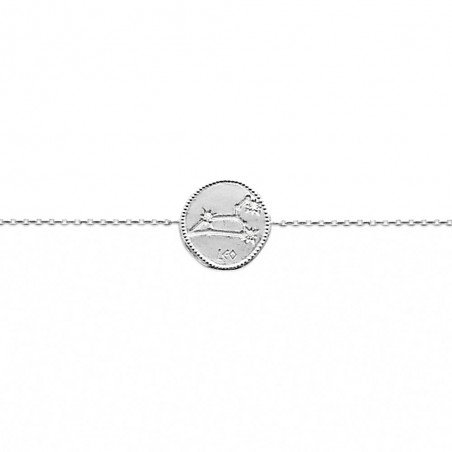 Bracelet constellation Lion argent zirconium