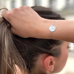 Bracelet constellation Cancer argent zirconium