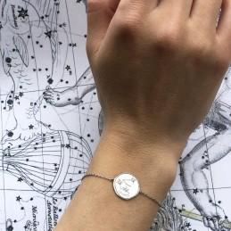 Bracelet constellation Verseau argent zirconium