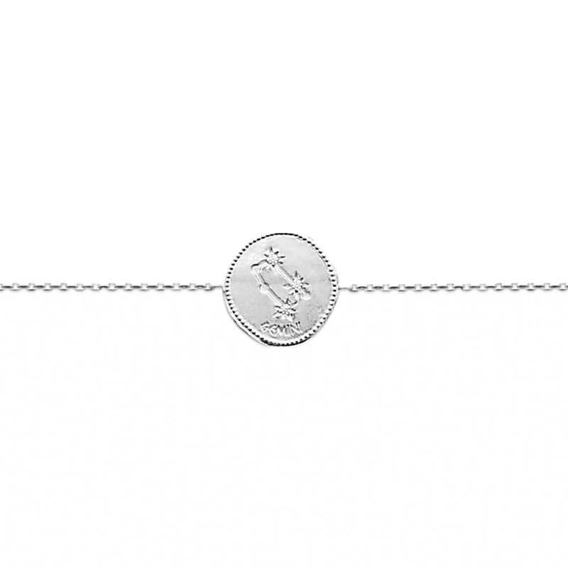 Bracelet constellation Gémeaux argent zirconium