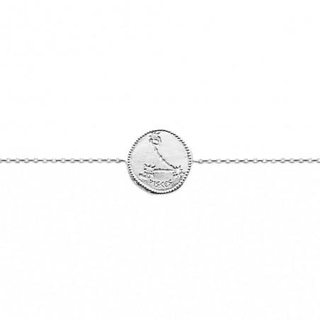 Bracelet constellation Poissons argent zirconium