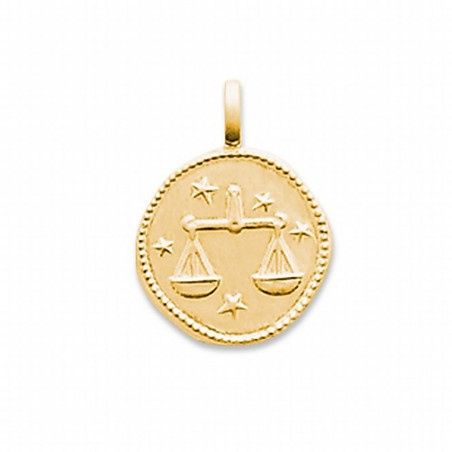 Pendentif signe astrologique Balance plaqué or