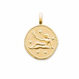 Pendentif signe astrologique Vierge plaqué or