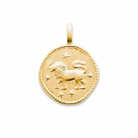 Pendentif signe astrologique Lion plaqué or