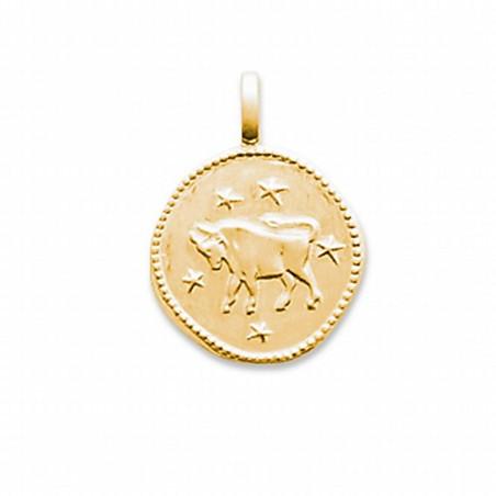 Pendentif signe astrologique Taureau plaqué or