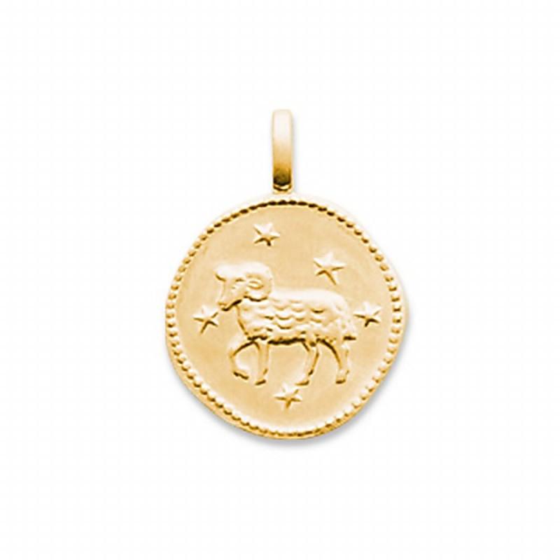 Pendentif signe astrologique Bélier plaqué or