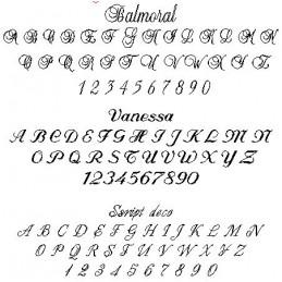 Typo majuscules gravure