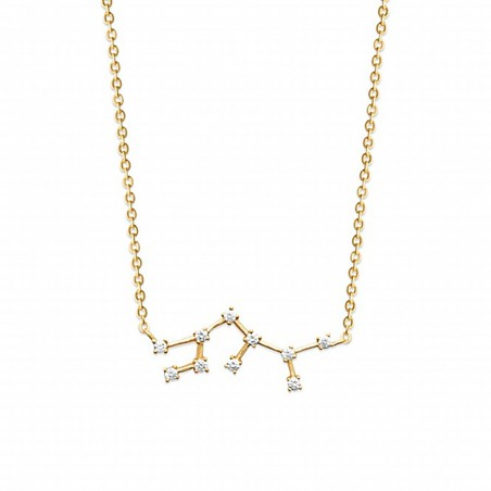 Collier constellation Sagittaire plaqué or zirconium