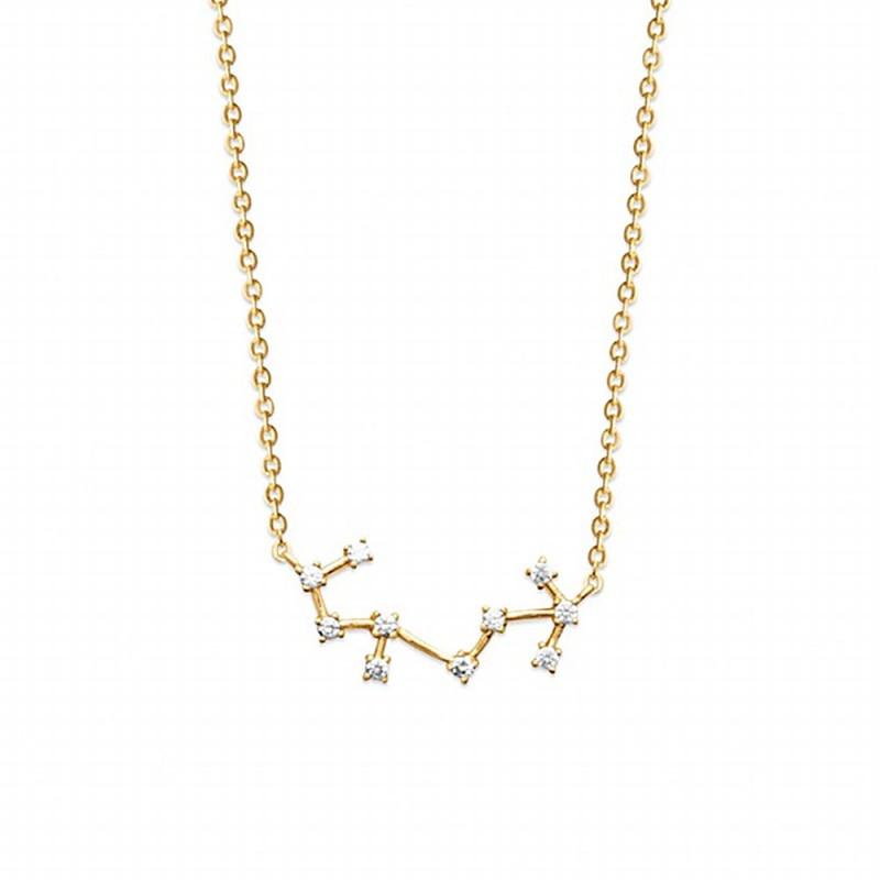 Collier constellation Scorpion plaqué or zirconium