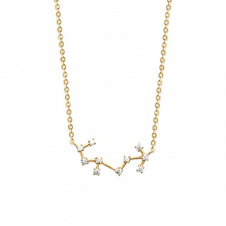Collier constellation Scorpion plaqué or zirconium