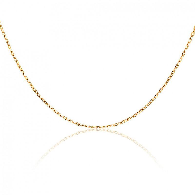Chaîne longue sautoir 80 cm plaqué or