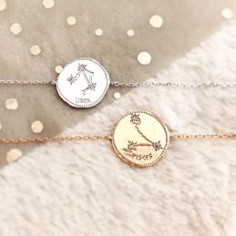 Bijou astro bracelet constellation plaqué or zirconium