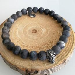 Bracelet homme pierre gemme labradorite