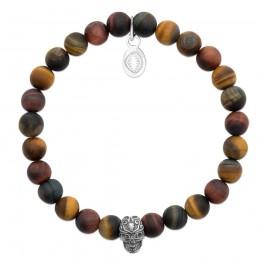 Bracelet homme pierre naturelle oeil de tigre