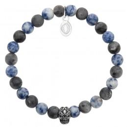Bracelet homme pierre naturelle gemme sodalite