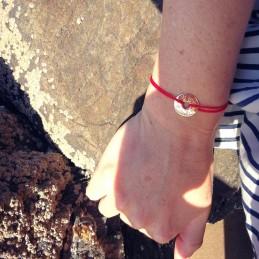 Bracelet personnalisé symbole viking vegvisir plaqué or cordon