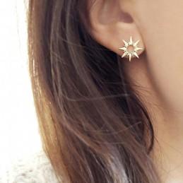 Boucles d'oreilles étoiles puces plaqué or