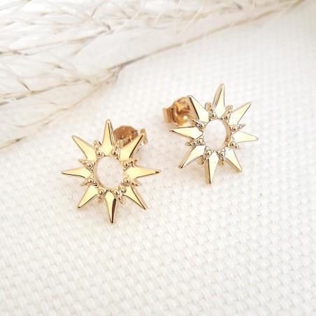 Boucles d'oreilles étoiles plaqué or
