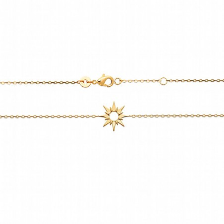 Bracelet étoile plaqué or