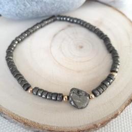 Bracelet pierre naturelle pyrite