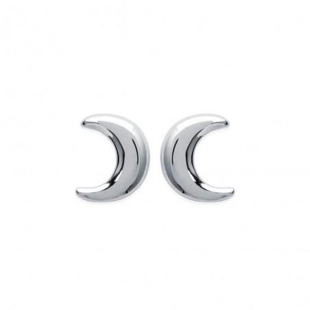 Boucles d'oreilles argent croissant de lune puces