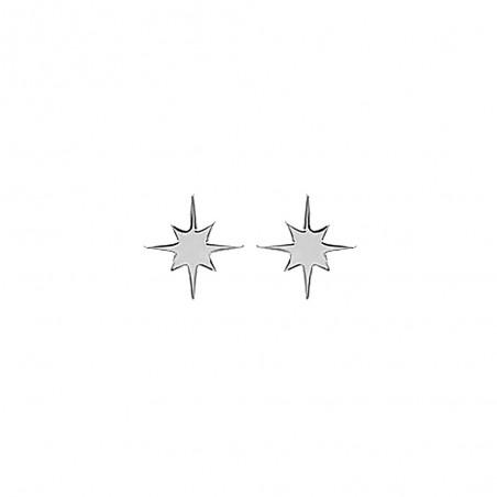 Boucles d'oreilles argent puces étoile polaire