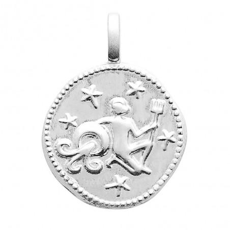 Pendentif personnalisé argent signe astrologique Verseau