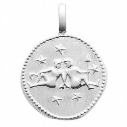 Pendentif personnalisé argent signe astrologique Gémeaux