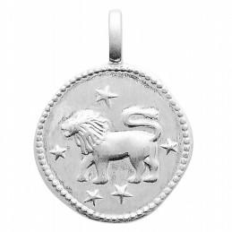 Pendentif personnalisé argent signe astrologique Lion