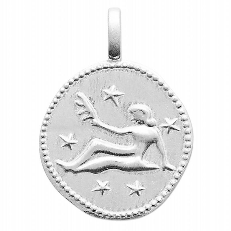 Pendentif personnalisé argent signe astrologique Vierge