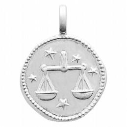 Pendentif personnalisé argent signe astrologique Balance