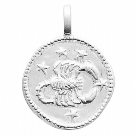 Pendentif personnalisé argent signe astrologique Scorpion