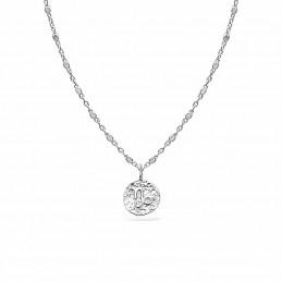 Collier signe astrologique Capricorne argent