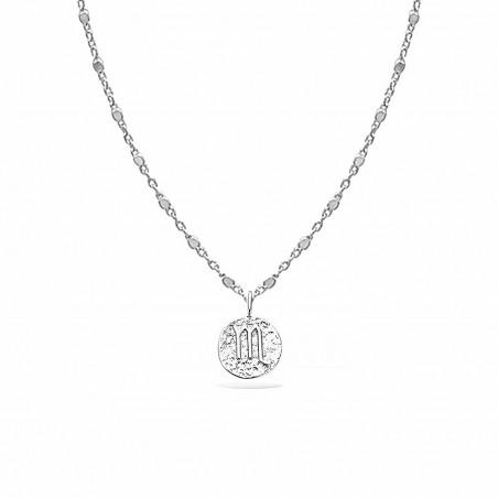 Collier signe astrologique Scorpion argent