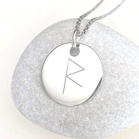 Médaille personnalisée - symbole viking - rune - argent - 20 mm