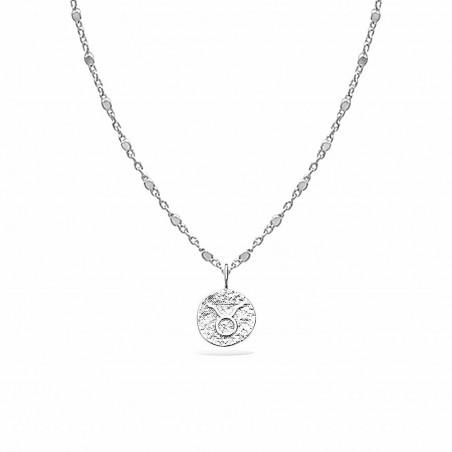 Collier signe astrologique Taureau argent