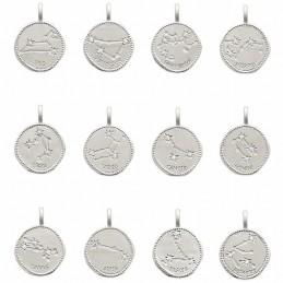 Médaille constellation argent zirconium