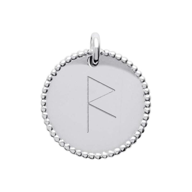 Pendentif médaille personnalisée argent symbole viking 20 mm