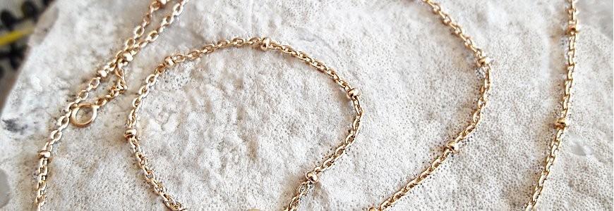 Chaînes en argent et plaqué or - Différentes mailles et longueurs