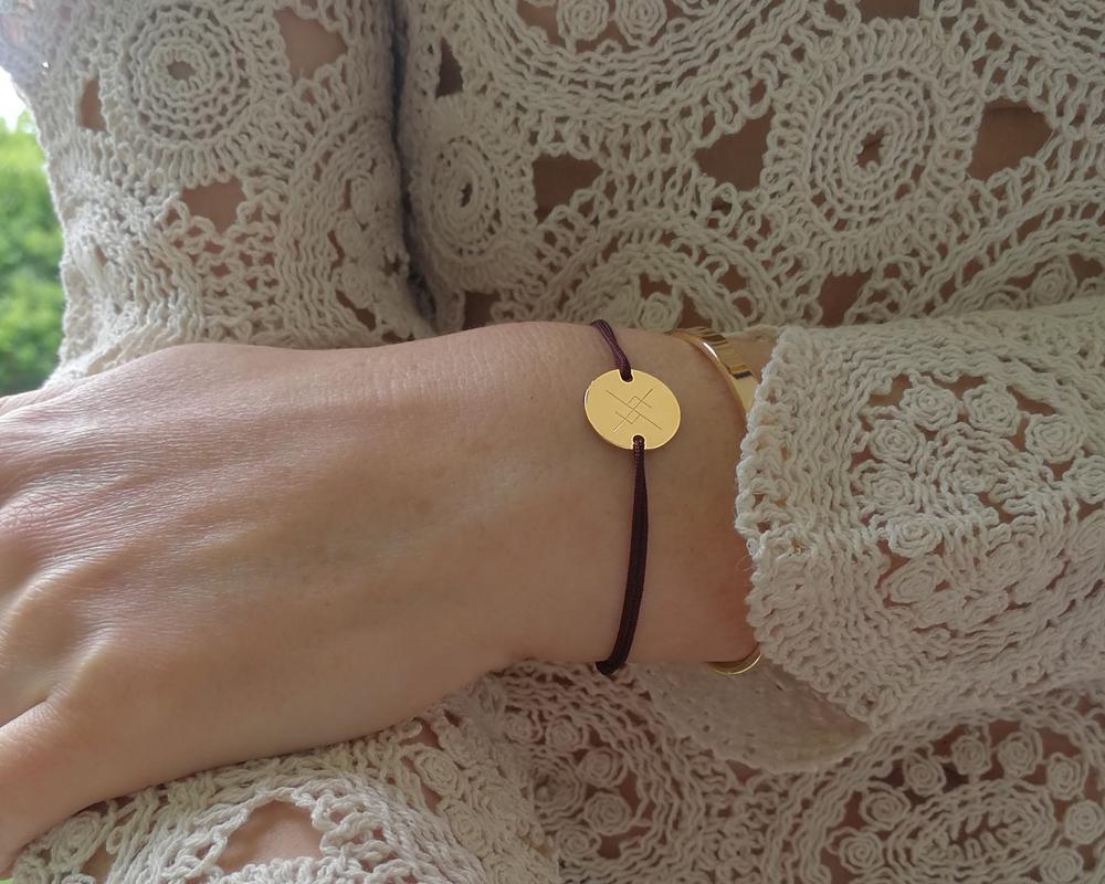 bracelet personnalisé gravé avec rune symbole viking