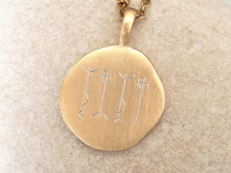 Médaille symbole viking Draumstafir
